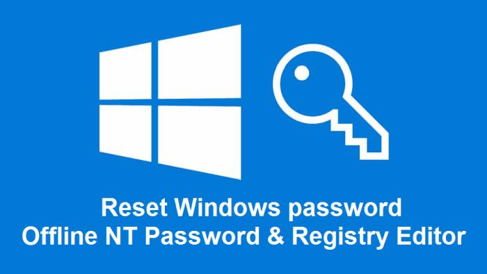 Offline NT Parol i redaktor reestra - Потерянный или забытый пароль Windows