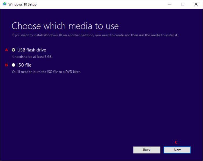 Выбор USB - накопителя для Windows 10