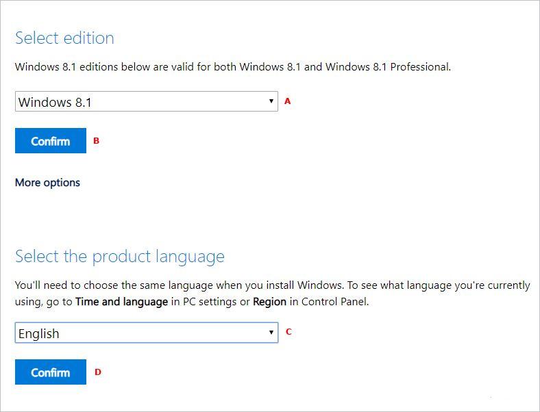 Windows 8-iso-options
