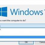 Завершение работы в Windows 10