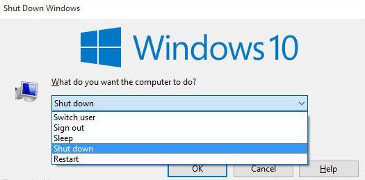 Zavershenie raboty v Windows 10 - Как выключить компьютер