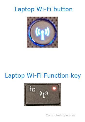 Кнопка Wi-Fi на ноутбуке
