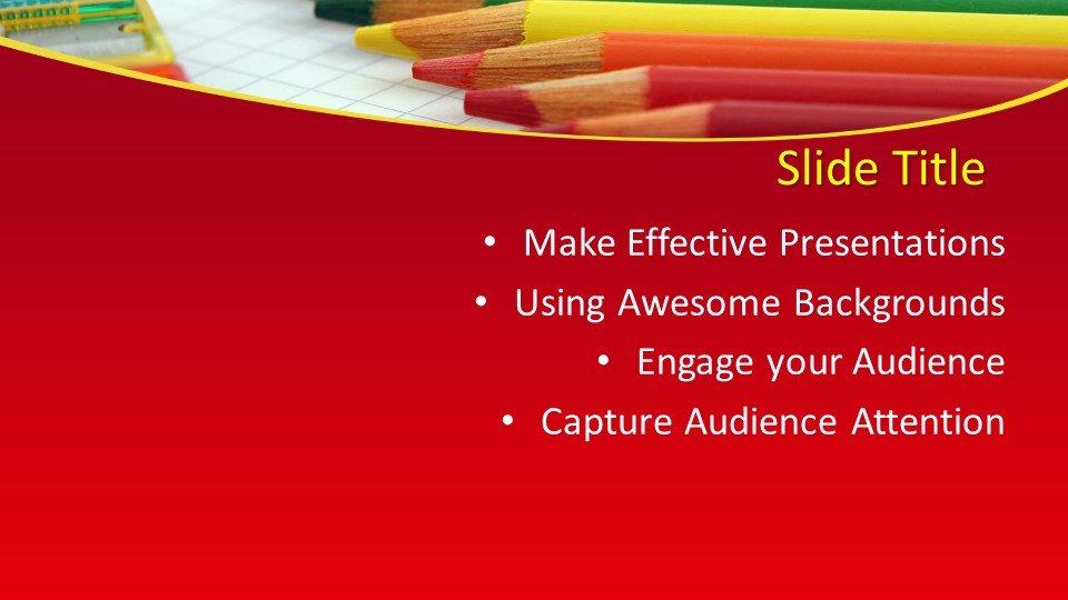 Powerpoint Karandashi2 - Шаблоны слайдов Powerpoint - Карандаши