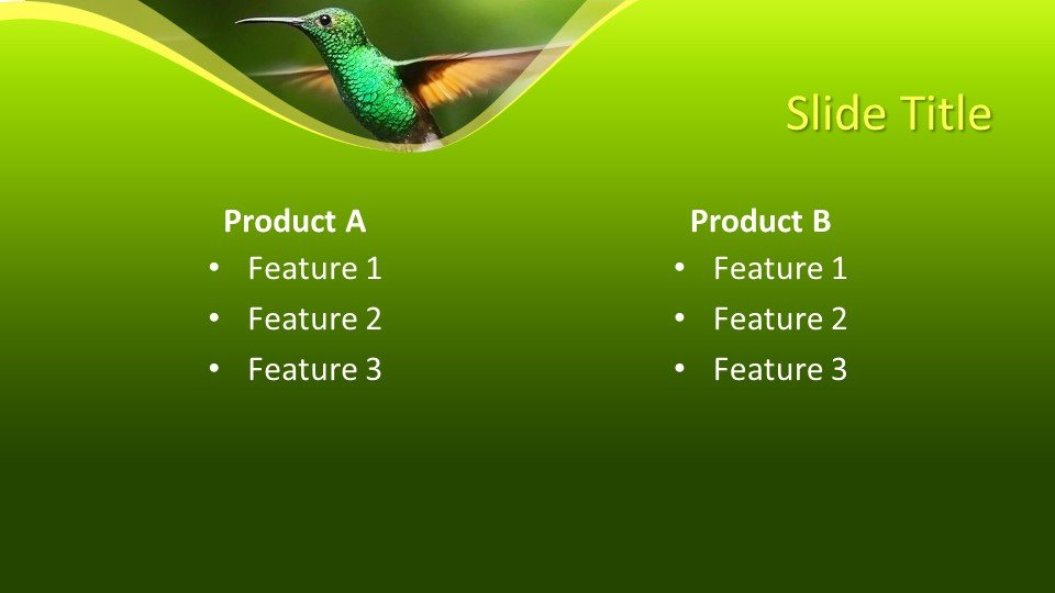 Powerpoint Kolibri4 - Шаблоны слайдов Powerpoint - Колибри