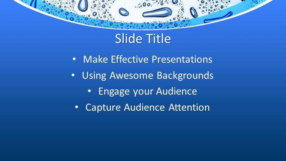 Шаблон PowerPoint - Вода H2O
